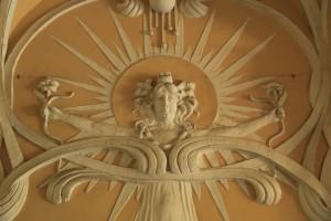 Goldschmidt palace wall passageway decoration